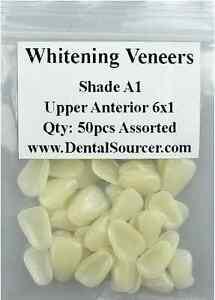 Dental Ultra-Thin Whitening Veneers Resin Teeth Upper Anterior Shade A1 80 PIECE