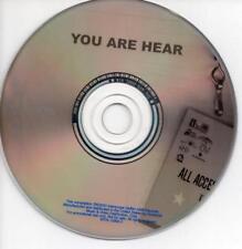 You Are Hear: VIP List: Summer 2003 PROMO MUSIC AUDIO CD Black Eyed Peas Mya +