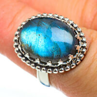 Labradorite 925 Sterling Silver Ring Size 6.25 Ana Co Jewelry R46056