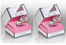 Lot of 2 Oscar de la Renta EDP Solid Perfume Ring with refill ~2X .02 oz ea box