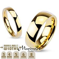 3mm - 8mm Wide 14k Gold Plated Classic Comfort Fit Wedding Ring Band Size 4.5-14