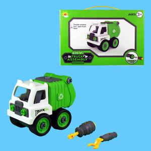 Müllwagen mit Werkzeug zum zerlegen und Montieren