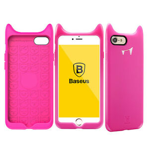Iphone 7 Teufel Silikon Back Cover (Rosa),