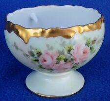 ANTIQUE T&V LIMOGES FRANCE SHERBET OR SEAFOOD COCKTAIL BOWL HAND PAINTED