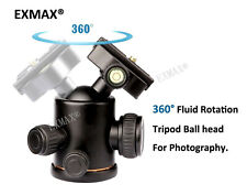 Heavy Duty Photography Tripod Ball Head with Quick Release Plate for DSLR Camera