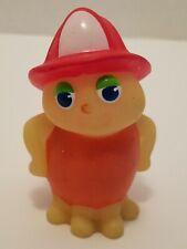 Vintage Glo Worm Firefly Bug Friend 1986 Playskool Rare Fireman Hat