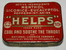 Antique or Vintage Tin: National Licorice Company Helps Throat Pellets