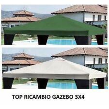 TOP TELO COPERTURA DI RICAMBIO GAZEBO 3X4 MT TETTO COLORE BIANCO POLIETERE