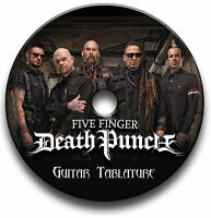 FIVE FINGER DEATH PUNCH METAL ROCK GUITAR TAB TABLATURE SONG BOOK SOFTWARE CD