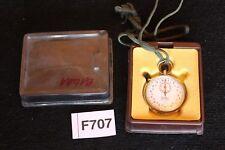 Hanhart Anker 11 Jewels Steine Stoppuhr alte 1/10 sec ehemals Bund BW Uhr F707