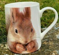 2 X RED SQUIRREL MUGS NEW WITH LABELS PROCEEDS TO CHARITY