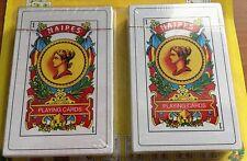 PACK OF 2 - NAIPES BARAJA ESPANOLA 50 PUERTO RICO SPANISH PLAYING CARDS DECK