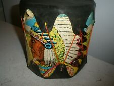Vintage Native American Toy Drum Indian Pictures
