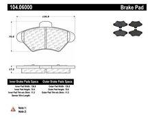 Disc Brake Pad-Posi-Quiet Metallic w/Shims & Hardware-Preferred Front Centric