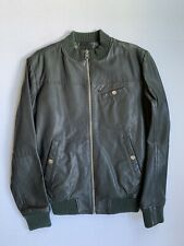 G Star Raw Sz M Correct Leather Jacket Insulated Coat Zip Bomber Pockets NWOT!!!