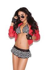 Wild Ride Costume Set Bra Top Mini Skirt Racing Checkered Flag Lingerie 8717