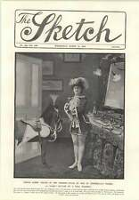1906 Miss Queenie Leighton Visited By Shetland Pony In Dressing Room Fake