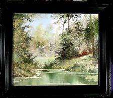 "Liliana Frasca Original on canvas , signed , dated 1972 , Titled ""Jackson Lake"""