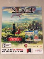 "Ni No Kuni ll Revenant Kingdom Gamestop Promo Poster 24x28"" PS4 Switch RPG"