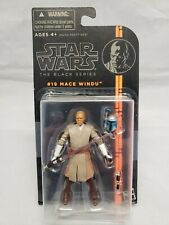 "2013 Star Wars The Black Series #19 Mace Windu 3.75"" Action Figure Opened Rare"