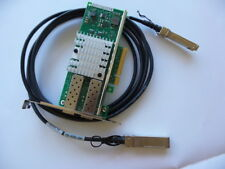 Dell VFVGR  10GB 2P ADAPTER X520-DA2 PCI-E Card + 3M SFP+ high quality cable