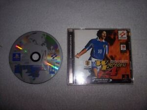 KONAMI PS1 WORLD SOCCER JIKKYO WINNING ELEVEN 4 Sony Playstation From Japan