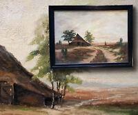 Pantano de wilhelmshaven. orig. Pintura al óleo firmado Egon Rudolph raffalsky