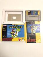 SNES Super Mario World Nintendo Game Boxed PAL