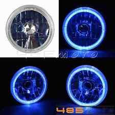 "5-3/4"" Motorcycle Halogen Headlight Turn Signals Angel Eye Chopper Cafe Racer"