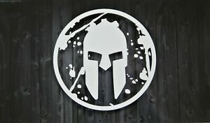 Spartan Race Distressed Warrior Premium Vinyl Decal Sticker lasts 6-8 years