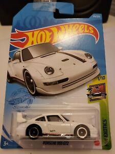 Hot Wheels 2021 Porsche 993 GT2 *174/250 HW Exotics *1/10 GTC03 White Long Card