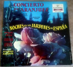 COLUMBIA SCLL 14000 RODRIGO concierto de aranjuez YEPES 1960s SPAIN STEREO LP
