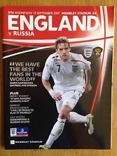 England v Russia 2007/08 European Championship programme