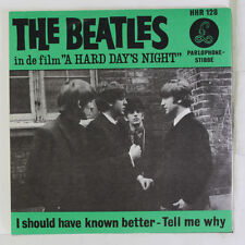 BEATLES: I Should Have Known Better / Tell Me Why 45 (Netherlands, VG+ PS)