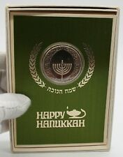 1970 Happy Hanukkah Medal Coin In Greeting Card By Franklin Mint.