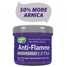 3 x NEW Nature's Kiss Anti-Flamme EXTRA 90g Herbal Pain Relief Cream
