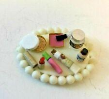 Vanity Tray with Cosmetics 1:12 Dollhouse Miniature