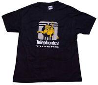 Vintage Telephonics Tigers T-Shirt Griffon Corp Aerospace Defense Black Hanes XL