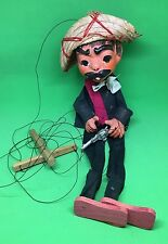 Vintage Spanish Mexican MARIONETTE String Puppet Toy Doll Wooden Feet