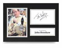 John Henshaw Signed A4 Photo Display Early Doors Autograph Memorabilia COA
