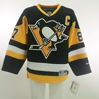 Pittsburgh Penguins NHL Reebok Kids Youth Size Sidney Crosby Official Jersey New