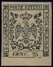 Ducato Modena 1852- 25c.camoscio chiaro-leggera linguella e  gomma originale