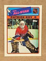 Patrick Roy 1988-89 Topps Hockey Sticker Insert Card #12 Montreal Canadiens