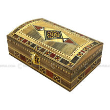 Handmade MiddleEastern Syrian Inlaid Mosaic Wooden Jewellery Gift Box 11x18x6.5