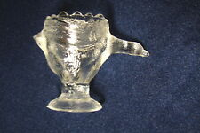 Vintage Depression Era Clear Textured Glass GOOSE EGG CUP