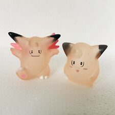1997 Clear Clefairy & Clefable vtg Nintendo Pokemon Bandai Toy Figures Rare f
