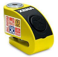 Xena XZZ6-Y 6MM Pin Moto Scooter Motocicleta de seguridad alarma de bloqueo de disco amarillo