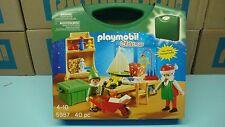 Playmobil 5987 Santa's Workshop Carrying Case mint in Box Christmas Noel 112