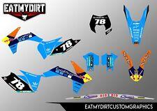 Para KTM EXC 2012-2013 XCW Calcomanías Pegatinas DE MOTOCROSS MX GRÁFICOS Personalizados