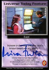 BABYLON 5 CCG Mira Furlan DELUXE EDITION Universe Today Feature AUTOGRAPHED